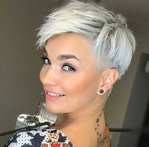 White Blonde Pixie Crop Haircut-12
