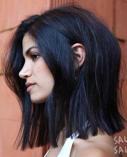 Medium Short Blunt Haircuts for Women-13