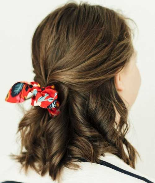 Simple Cute Updos for Short Hair-13