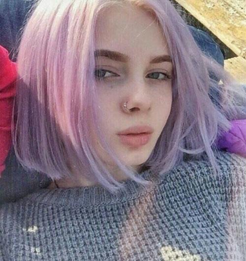 Short Lilac Hair Color Ideas-14