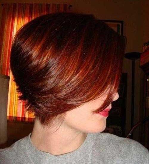 Dark Red Short Hair Color Ideas-15