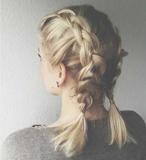 Two Braided Cute Updos for Short Hair-15