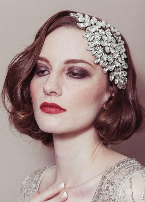 Short Hair Bridal Styles-17