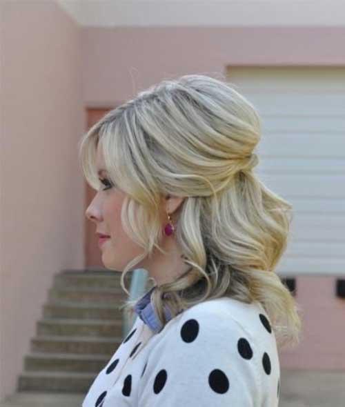 Cute Updos for Blonde Bob Hair-18