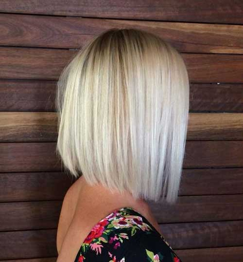 White Blonde Medium Short Haircuts for Women-19