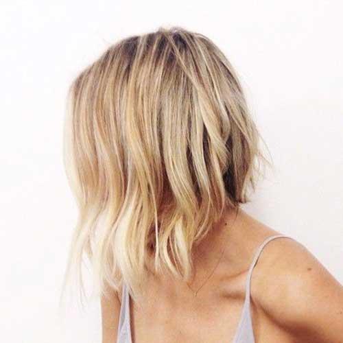 Medium Short Lob Haircuts for Women-21