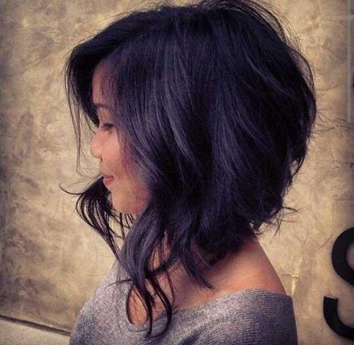 Short Thick Wavy Dark Hair Color-22