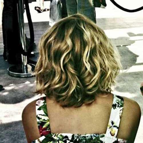 Blonde Balayage Short Thick Wavy Hair-24