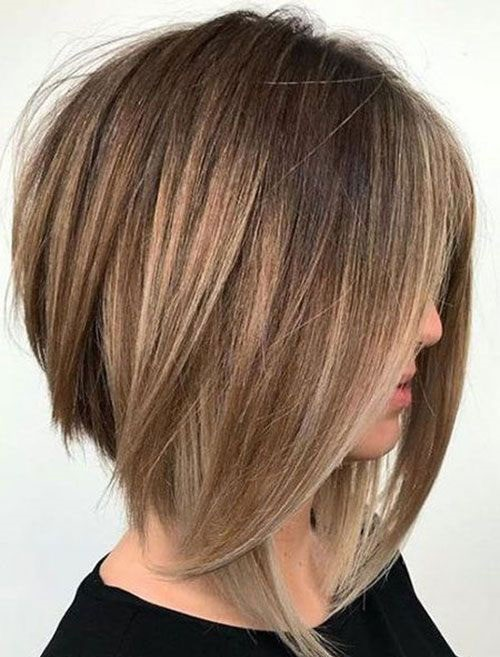 Straight Medium Short Haircuts for Women-25