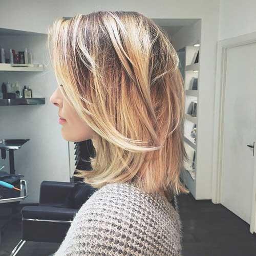 Blonde Medium Short Haircuts for Women-6