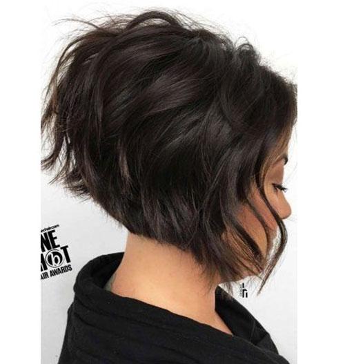 Short Graduated Thick Wavy Hair-6