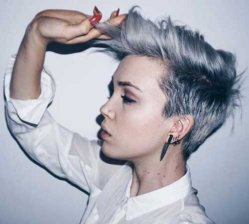 Short Grey Hair Color Ideas-7