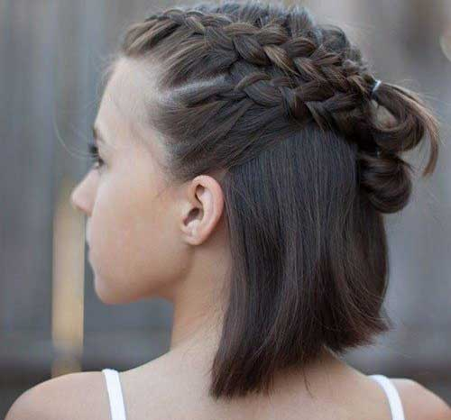 Different Cute Updos for Short Hair-8