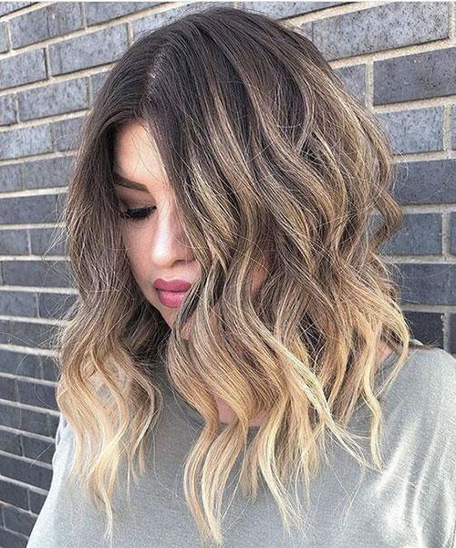 Lob Thick Wavy Hair-8