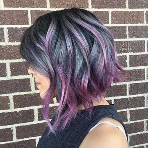 Short Purple Ombre Hair Color Ideas-8