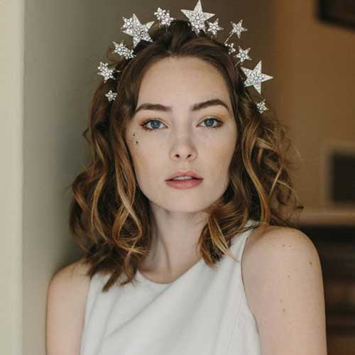 Wavy Short Hair Bridal Styles-9