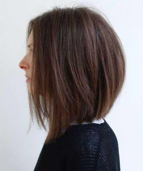 Short Haircuts for Fine Thin Dark Brown Hair