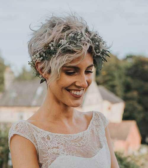 15 Best Short Hair Bridal Styles 2019 Short Haircuts
