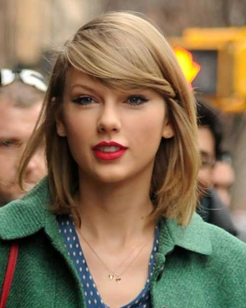 Taylor Swift Short Haircuts for Fine Thin Hair