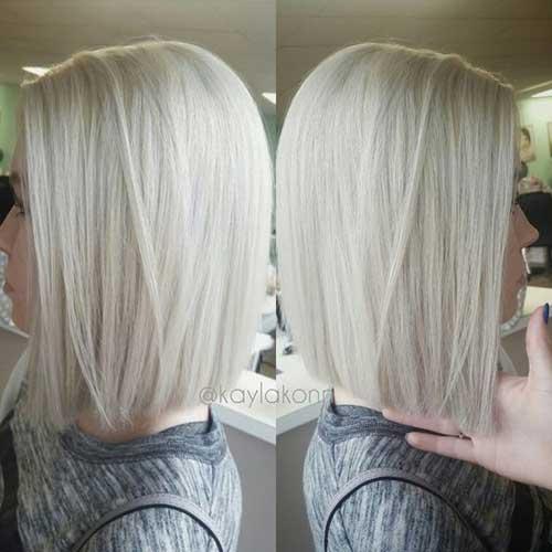 White Blonde Short Haircuts for Fine Thin Hair