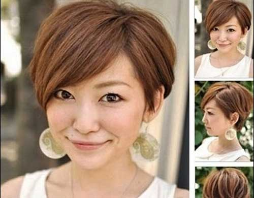 Pixie Bob Hairstyles for Round Faces
