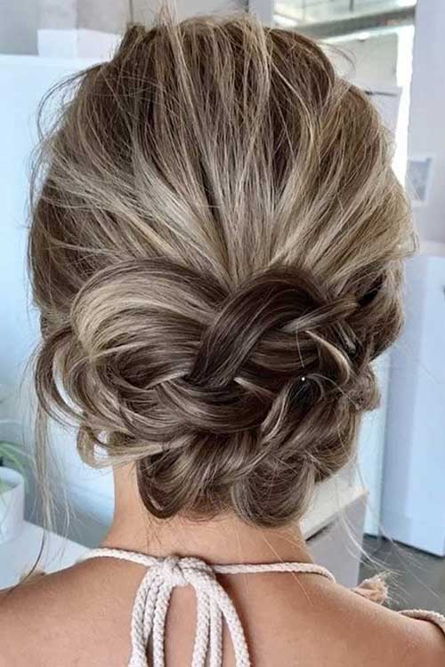 Short Hair Wedding Styles Bridesmaid-12
