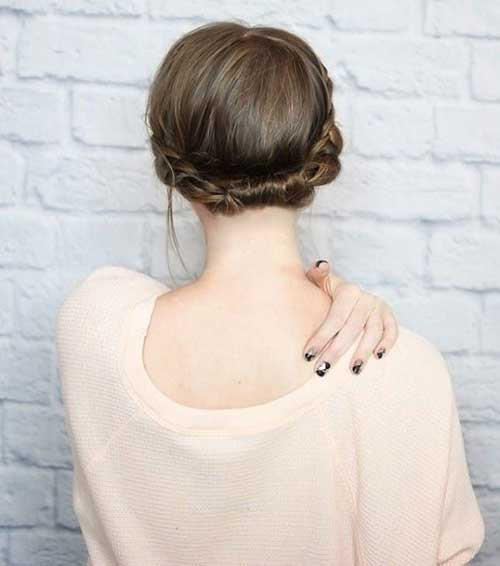 Short Hair Wedding Styles Bridesmaid-15