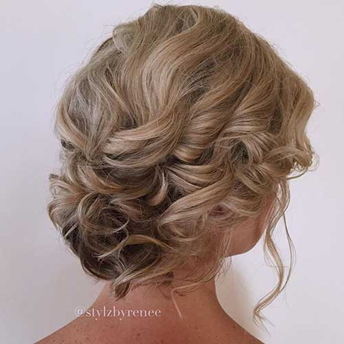Short Hair Wedding Styles Bridesmaid-19