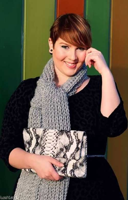 Short Haircuts for Plus Size Women-19