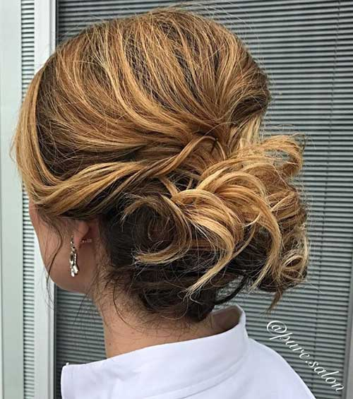 Short Hair Wedding Styles Bridesmaid-22