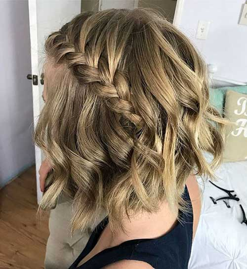 Short Hair Wedding Styles Bridesmaid-23