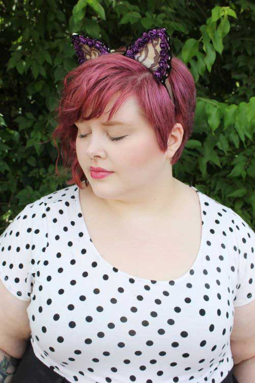 Short Haircuts for Plus Size Women-23