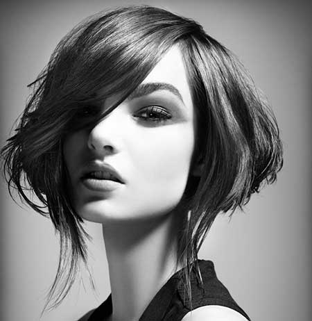 Short Asymmetrical Haircuts with Bangs