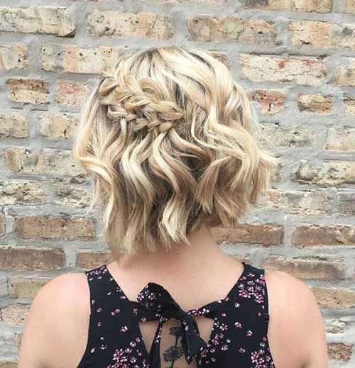 Half Updo Short Hair