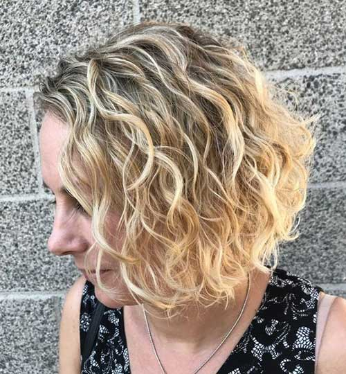 Short Blonde Curly Hair