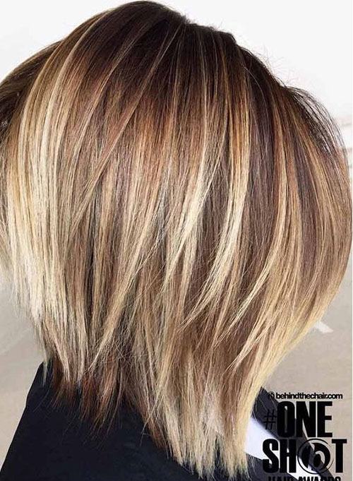 Graduated Short Highlighted Hair 2019-6