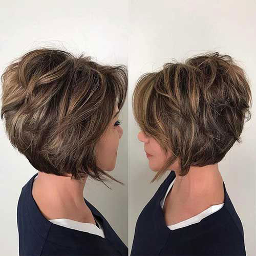 Thick Short Highlighted Hair 2019-7