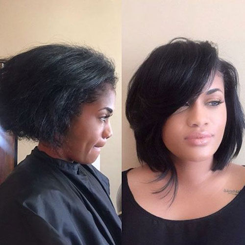 Short Weave Hairstyles for Black Women-8