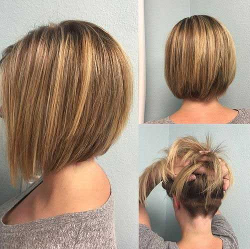 Short Brown Hair with Blonde Highlight