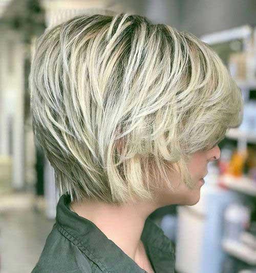 Short Layered Bob for Fine Hair