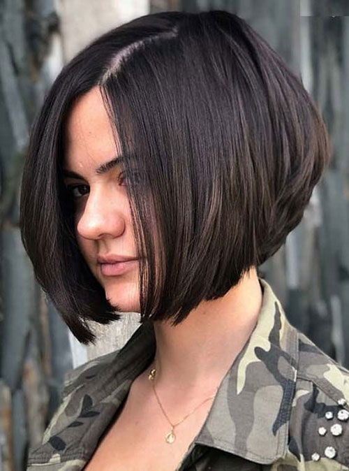 Inverted Short Brown Hair-11