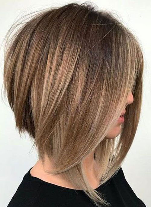 Inverted Shoulder Length Short Layered Hair-12
