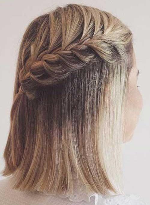 Easy Fishtail Braids for Short Hair-13