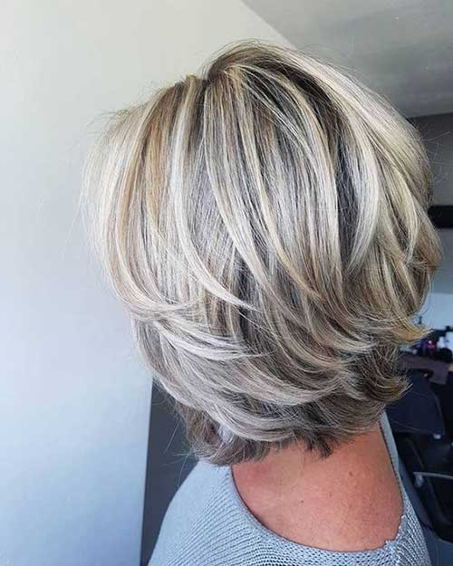 Shoulder Length Short Feathered Layered Hair-16