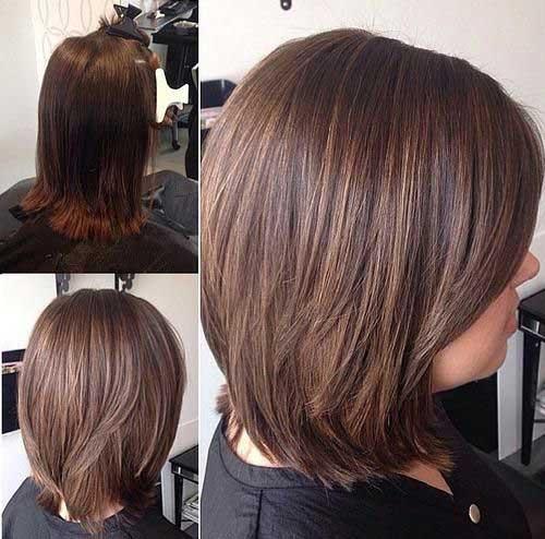 Simple Shoulder Length Short Layered Hair-7