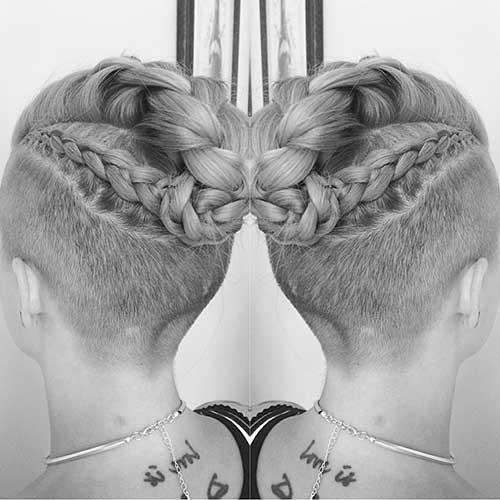 Easy Braids for Shaved Short Hair-8