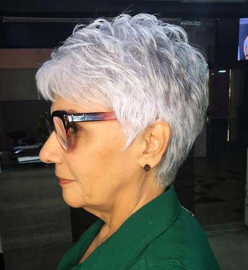 Simple Short White Hair-8