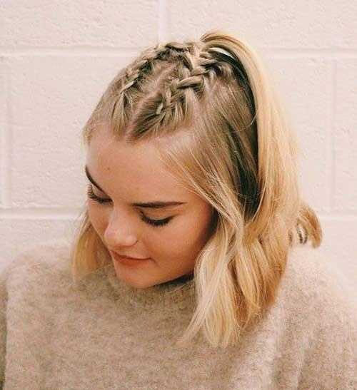 Easy Top Braids for Short Hair-9