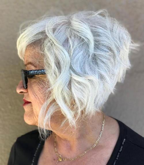 White Bob Hair