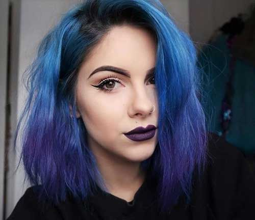 Blue Ombre Short Haircuts 2020
